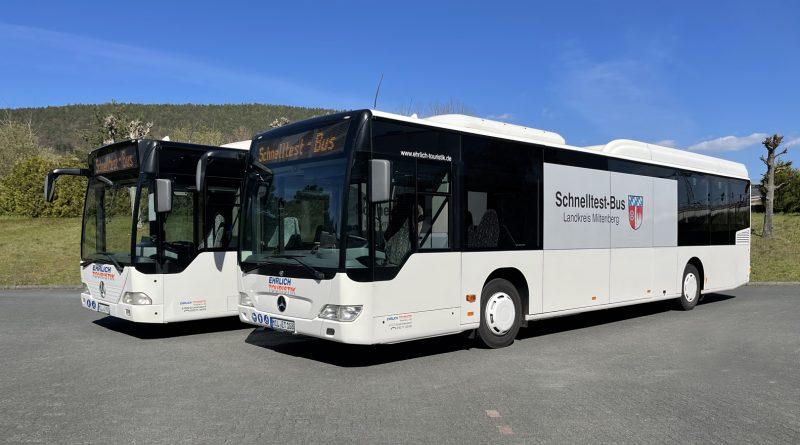 Zwei Schnelltest-Busse im Landkreis Miltenberg